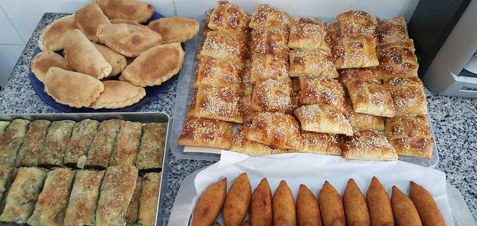 Typical börek filled with nor, a Cyprus white cheese