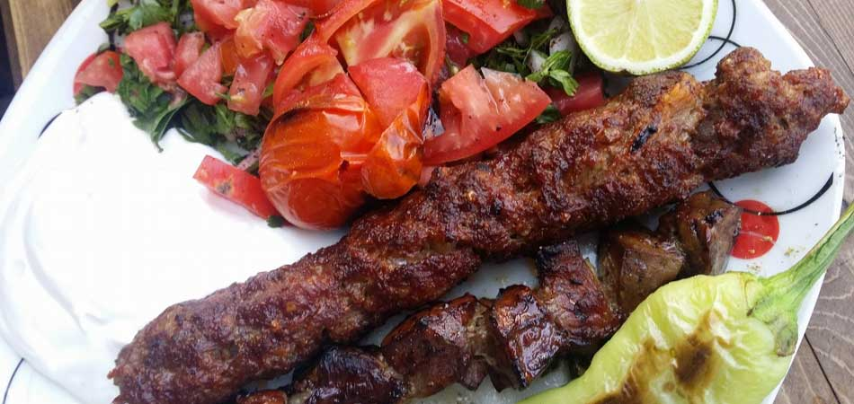 Adana kebabs are one of the specialities