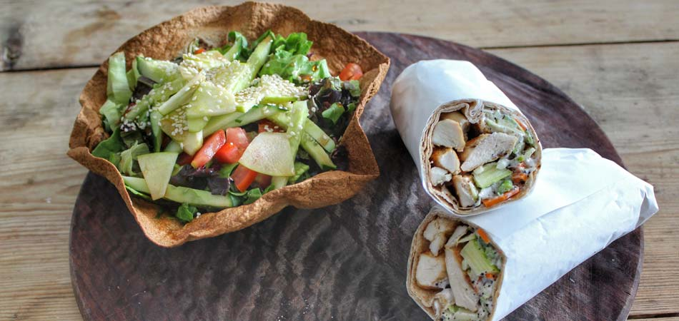 Ferda's serves a variety of wraps and salads